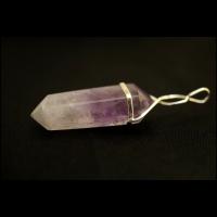 Натуральный аметист - кулон в форме кристалла